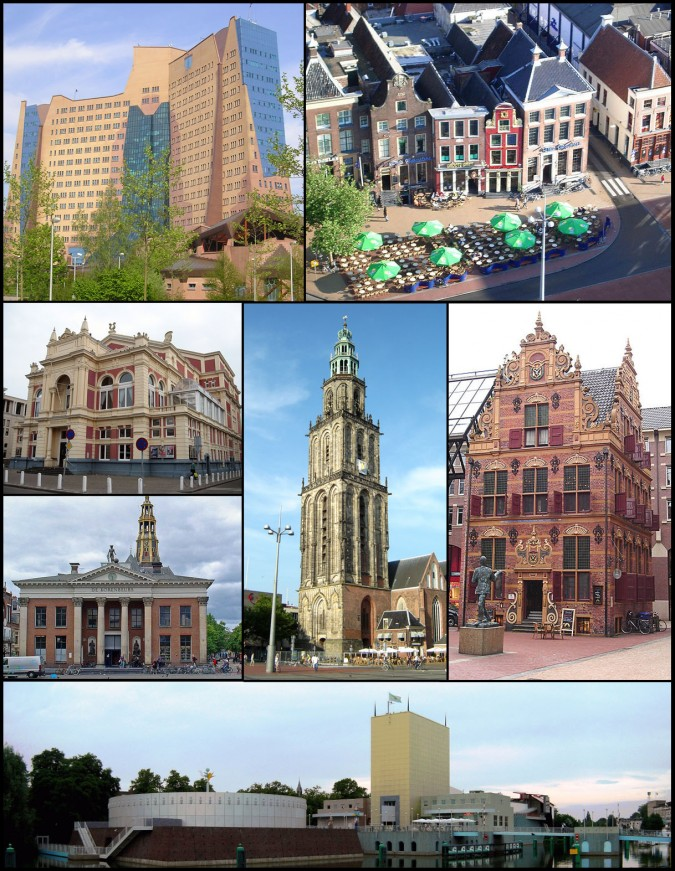 Modern scenes from the Netherlands city of Groningen. Photo from WikiMedia.org.