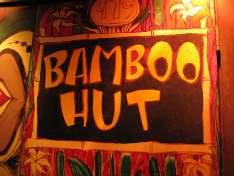 Bamboo Hut sign