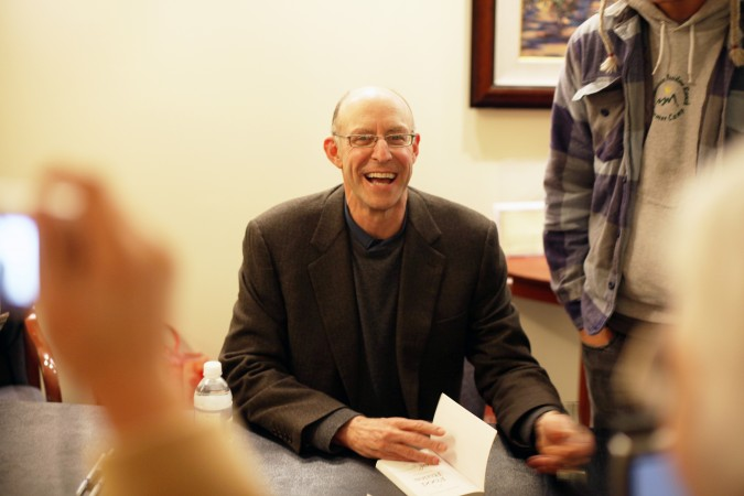 Michael Pollan signing books, January 27, 2010, Campbell, California