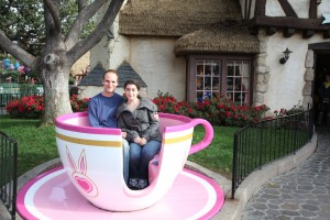 Kevin Warnock and Monika Varga in Disneyland tea cup, February 6, 2010