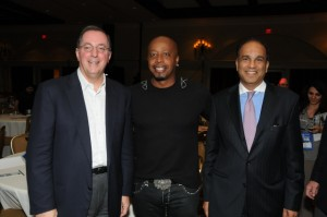Intel CEO Paul Otellini with MC Hammer and Intel Capital President Arvind Sodhani
