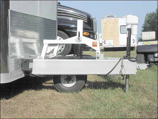 Tuff Tow device to reduce trailer tongue weight loads