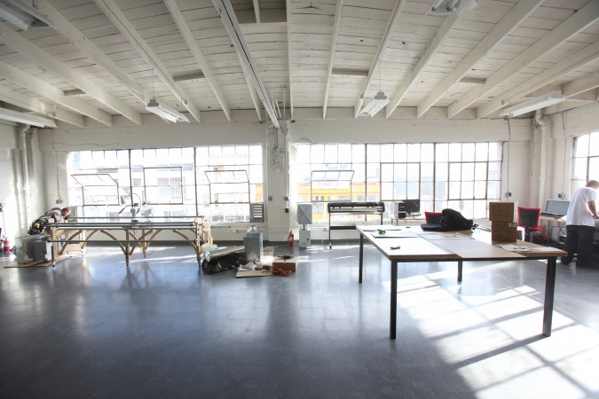 Top floor of TechShop, San Francisco, California, looking toward Howard Street, December 6, 2010