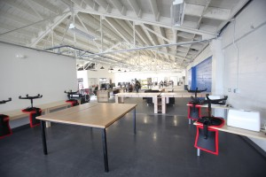 Top floor of TechShop, opening day, San Francisco, California, December 6, 2010