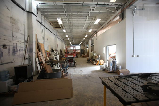 Unfinished first floor of TechShop, San Francisco, California, December 6, 2010