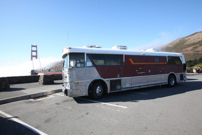 1967 MCI 5A Challenger Bus Conversion By Golden Gate Bridge, Marin, California