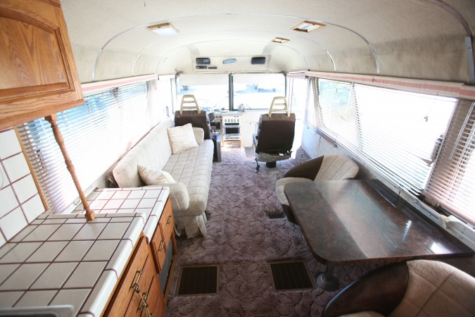 1967 MCI 5A Challenger Bus Conversion, interior looking forward