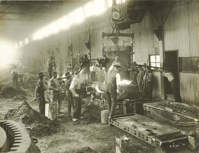 Hadfields Works steel casting, 1925