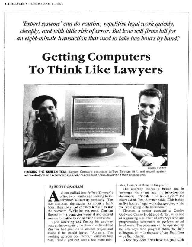 Getting Computers To Think Like Lawyers