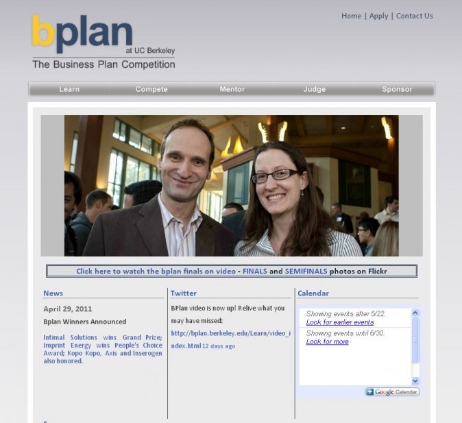 bplan.berkeley.edu as of May 22, 2011. Kevin Warnock and Kelly Karns.