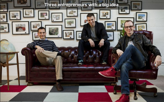 AirBNB founders (picture from their website)