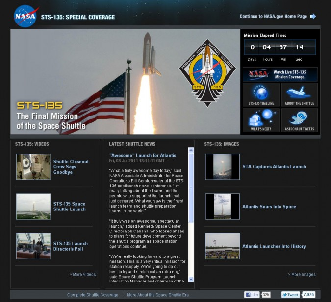 http://www.nasa.gov home page July 8, 2011