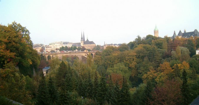 "Luxembourg, Pétrusse ""valley"", Adolphe bridge (photo by Flickr user jepoirrier - commercial use OK)"