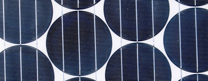 Solar panel detail (photo by Flickr user Wichita Renewable Energy Group)