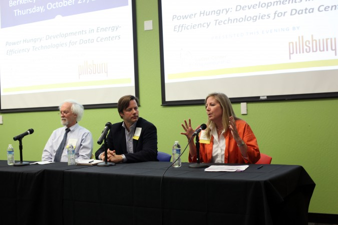 Dale Sartor, John Robison and Joyce Dickerson on panel at Berkeley Entrepreneurs Forum, October 27, 2011
