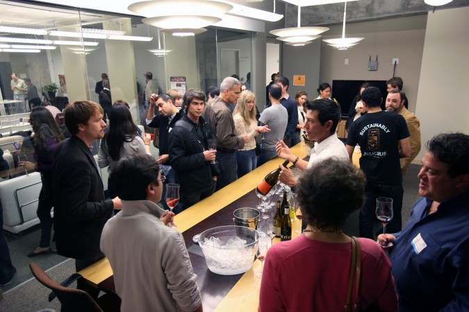 Networking hour at Food Startups event, November 16, 2011