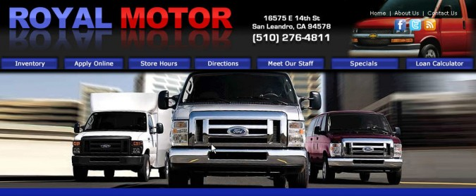 Royal Motor website graphic from http://royalmotor.net, December 2011
