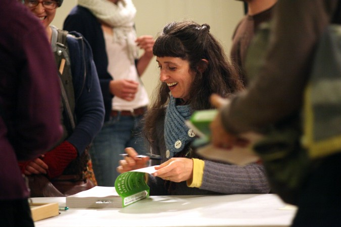 Willow Rosenthal signing The Essential Urban Farmer February 29 2012