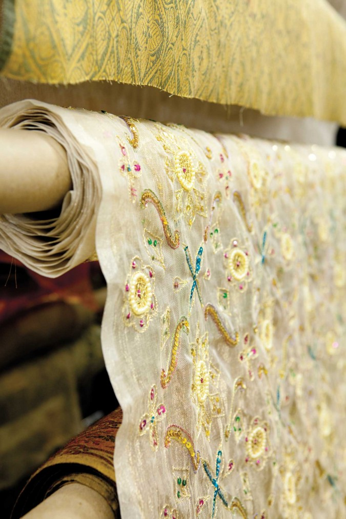 Fabric for sale at Zimman's of Lynn, Massachusetts, USA. Picture from http://nshoremag.com/zimmans-of-lynn/