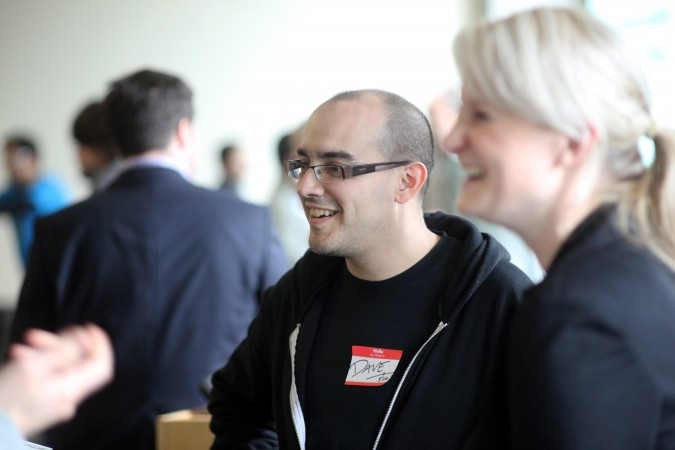 Dave McClure and Lisa Seeman at Mexican VC Demo Day, March 16, 2012