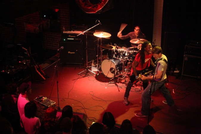 Peligro playing at music venue The New Parish in Oakland, California USA, March 2, 2012. Photo by Kevin Warnock.