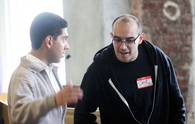 Ricardo Cacique and Dave McClure at Mexican VC Demo Day, March 16, 2012