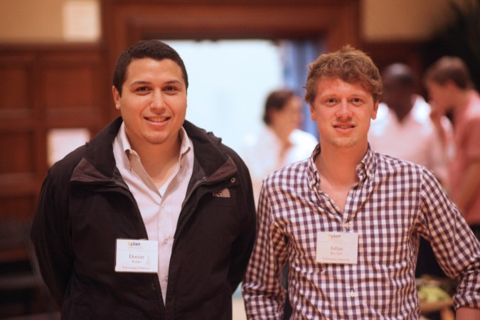 Dorian Walder and Julian Riediger of University Gateway, April 24, 2012. Kevin Warnock mentored this team this year.