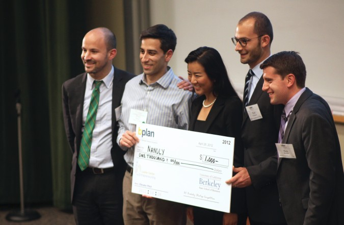 Elevator Pitch winner Nanoly at the Berkeley Startup Competition, April 26, 2012