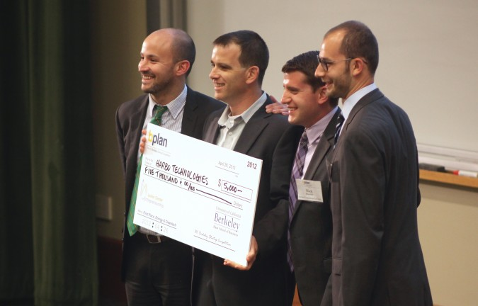 First Place Energy and Cleantech winner Harbo Technologies at the Berkeley Startup Competition, April 26, 2012