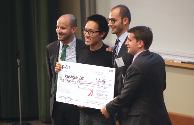 First place IT and Web Track winner Kloudless, Inc. at the Berkeley Startup Competition, April 26, 2012