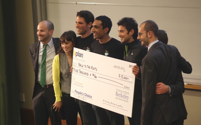 Peoples' Choice winner Back to the Roots at the Berkeley Startup Competition, April 26, 2012