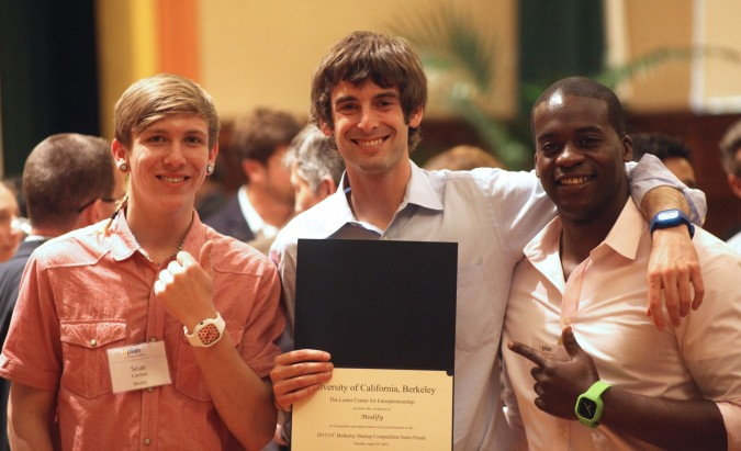 Sean Linehan, Aaron Schwartz and Ayo Oluwole of Modify, April 24, 2012. Modify is a finalist in the 2012 Berkeley Startup Competition.