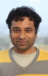 Dhawal Mujumdar is Co-Founder and Engineer at Picatcha.com. Photo by Kevin Warnock May 2, 2012 at UC Berkeley Skydeck.
