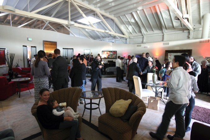 Reception at 2012 Andrew Fluegelman Foundation Awards Gala in San Leandro, California, May 18, 2012