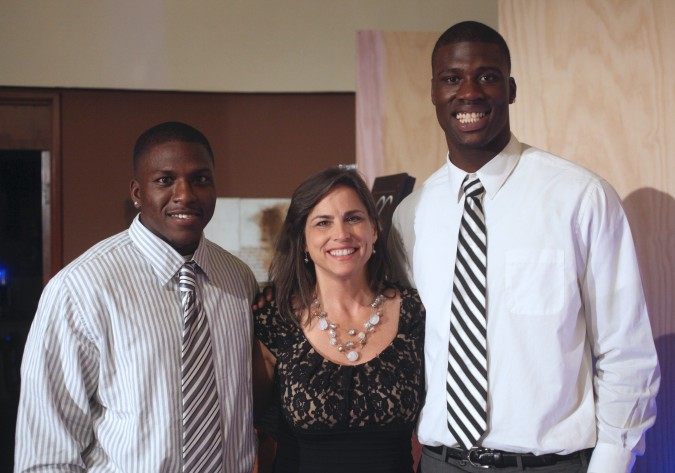 Tracy Beckham with 2 of her 12 children including Dorial Green-Beckham on the right. May 18, 2012 in San Leandro, California. Photo by Kevin Warnock.