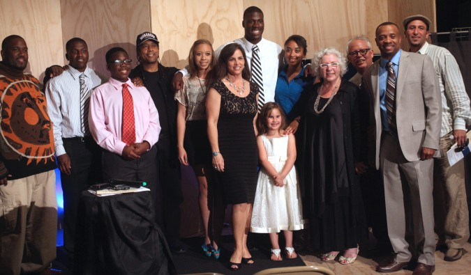 Tracy Beckham with her family plus a few others, May 18, 2012 at Andrew Fluegelman Fellowship Awards Gala. Photo by Kevin Warnock.