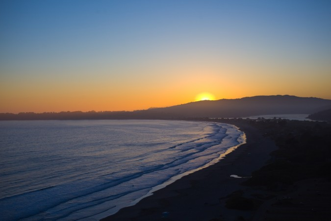 Sunset from Highway 1 near San Francisco, California, June 10, 2012