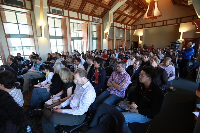 Audience listens to ATT CEO Randall Stephenson speak, September 6, 2012 at UC Berkeley