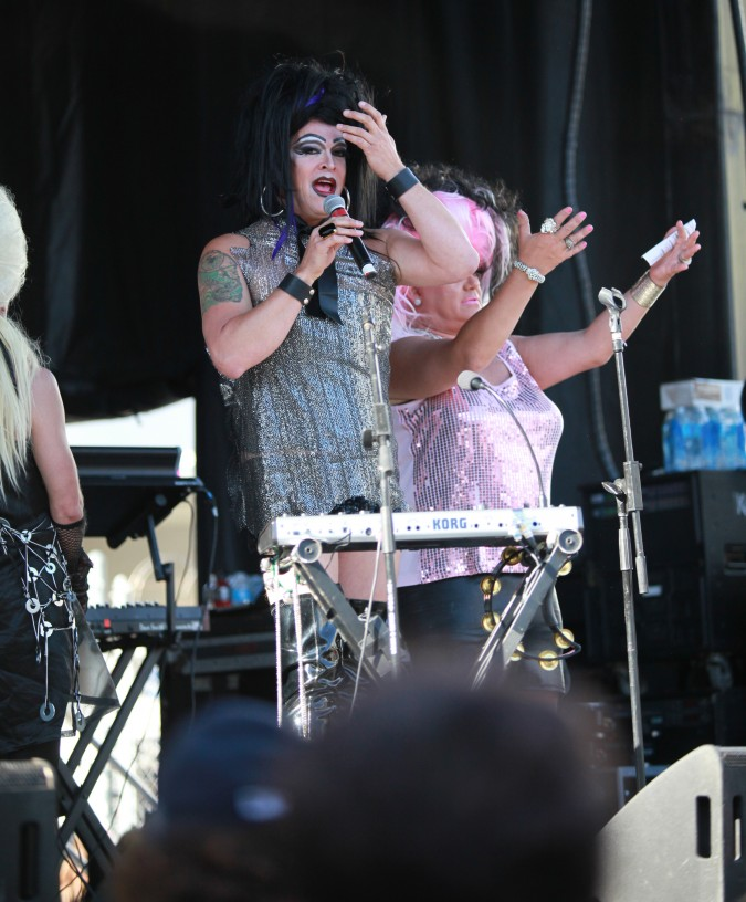 Performers on the stage at the San Francisco Folsom Street Fair, September 23, 2012.