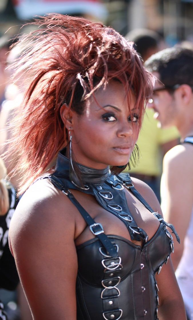 C. Amina Peterson at the San Francisco Folsom Street Fair, September 23, 2012.
