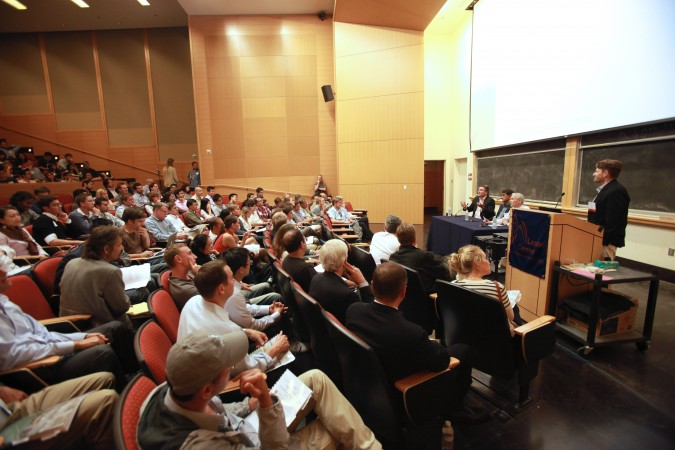 The Berkeley Entrepreneurs Forum, August 30, 2012, held at Stanley Hall, room 105, because Anderson Auditorium was booked