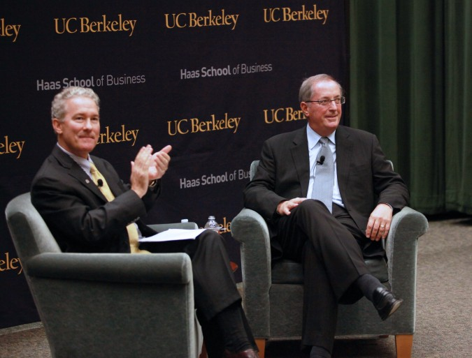 Haas School of Business Dean Rich Lyons and Intel CEO Paul Otellini, October 3, 2012 at UC Berkeley