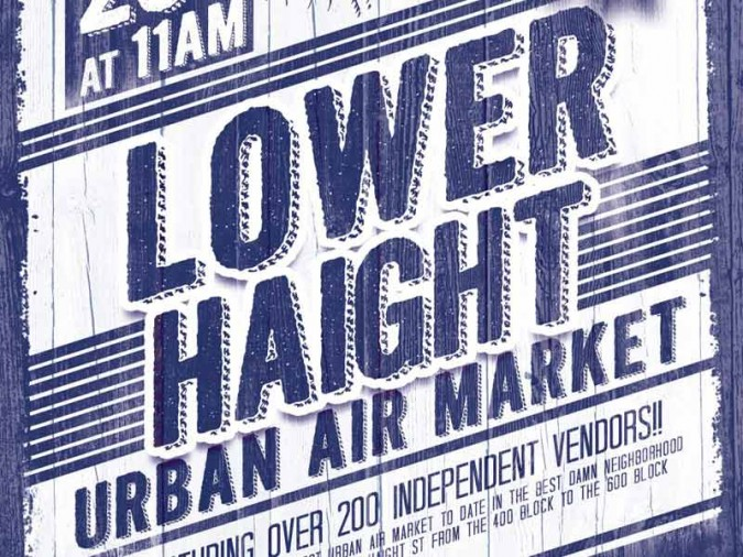 Poster for Lower Haight Urban Air Market October 20 2012 San Francisco, California USA