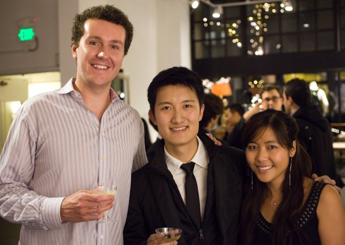 Fergus Hurley, Leo Chen and Cheryl Yeoh, November 27, 2012, at Monogram launch party.