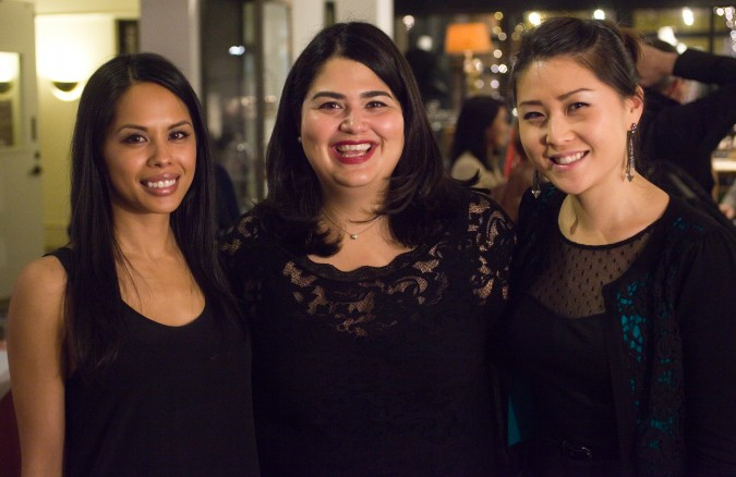 Lisa Garcia, Kristen Slowe and Sarah Choi from Monogram team at the Monogram launch party, November 27, 2012, San Francisco, California