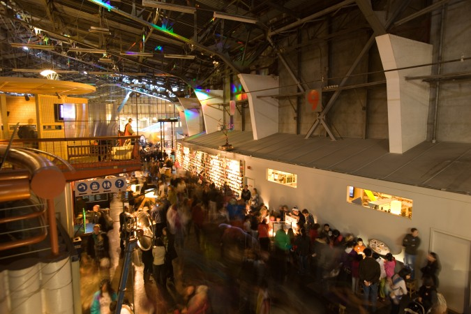 A view from the upper deck of gift shop at The Exploratorium, January 2, 2013
