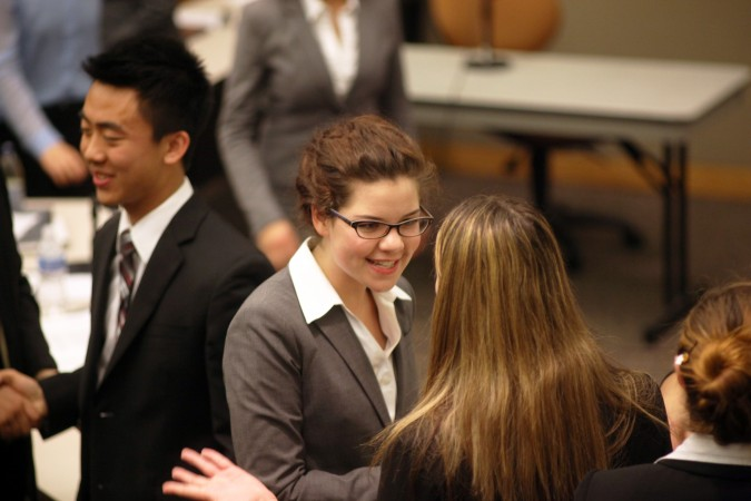 Devon Ivie at San Francisco Mock Trial finals, February 23, 2012. Photo by Kevin Warnock.