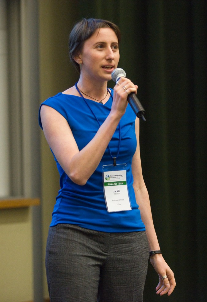 Jackie Stenson of Essmart Global from USA and India - at 2013 Global Social Venture Competition, April 12, 2013