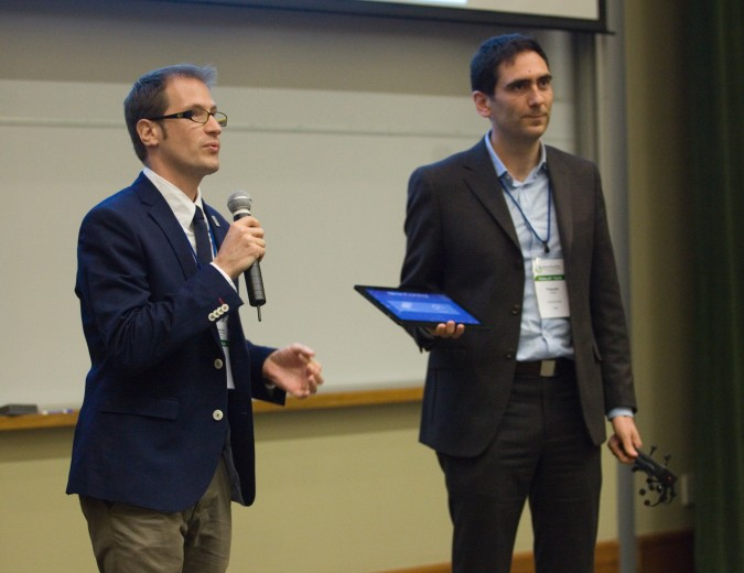 Jarrod Fath and Pasquale Fedele of BrainControl from Italy - at 2013 Global Social Venture Competition, April 12, 2013