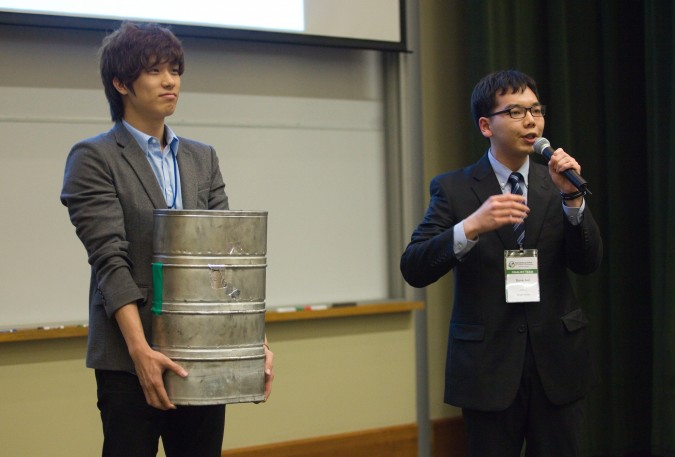 Sangjae Park and Sung Jun of AtRium from South Korea at 2013 Global Social Venture Competition, April